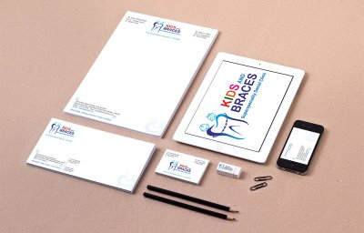 Kids & Braces Kids & Braces Dental Clinic Stationery Design Mumbai India