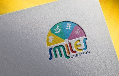 Smiles Creation Kids Logo Design Mumbai India