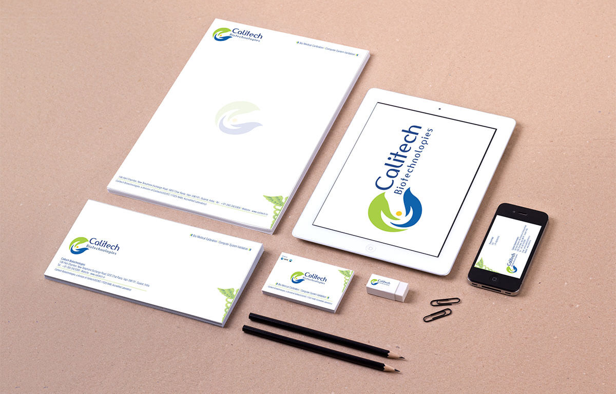 Calitech Biotechnologies Pharmaceuticals Health Care Stationery Design Vapi Gujarat India