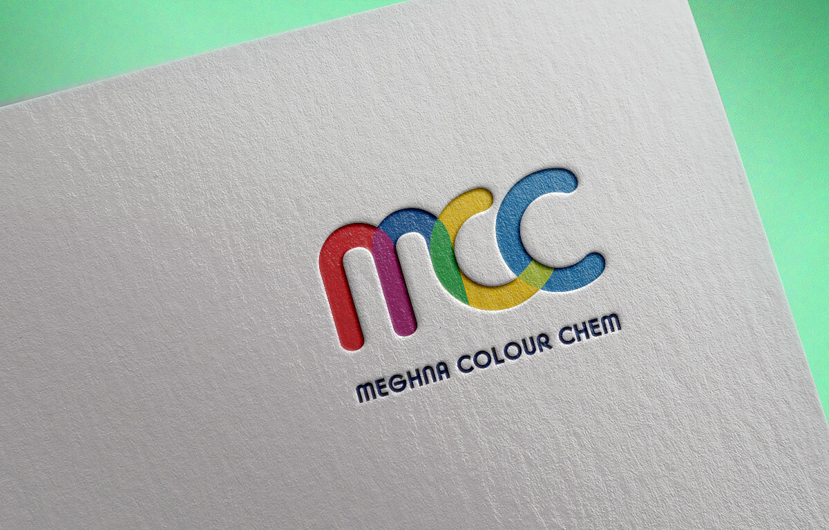 Meghna Colour Chem Pigments Logo Design Vapi Gujarat India