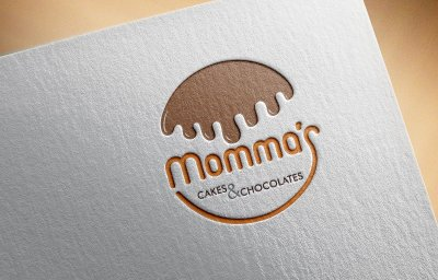 Momma's Cakes & Chocolates Dessert Logo Design Mumbai India