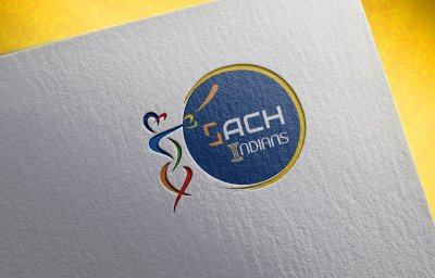 Sach Indians Cricket Sports Logo Design Mumbai India
