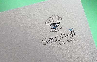 Sea Shell Hair & MakeUp Beauty Logo Design Mumbai India